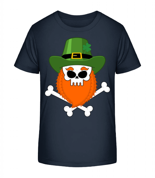 Irish Skull - Kid's Premium Bio T-Shirt - Navy - Vorn