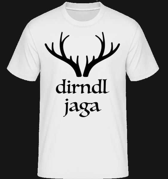 Dirndl Jaga - Shirtinator Männer T-Shirt - Weiß - Vorn