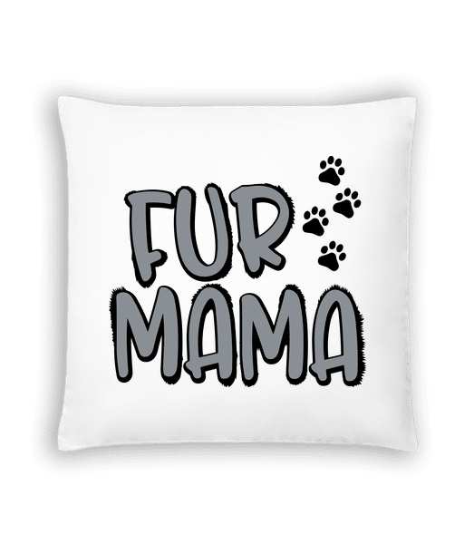 Fur Mama - Cushion - White - Vorn