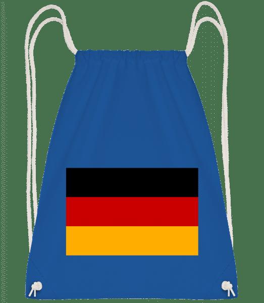 Flag Germany - Drawstring Backpack - Royal Blue - Vorn