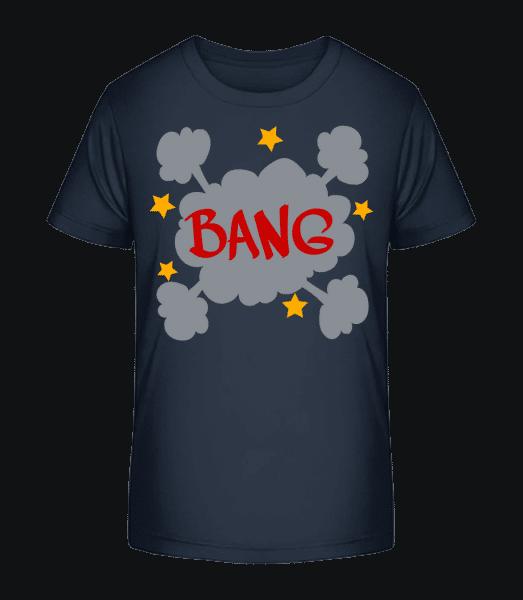 Bang Comic - Kid's Premium Bio T-Shirt - Navy - Vorn