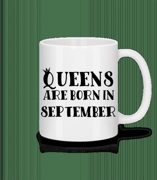 Queens Are Born In September - Mug - White - Vorn