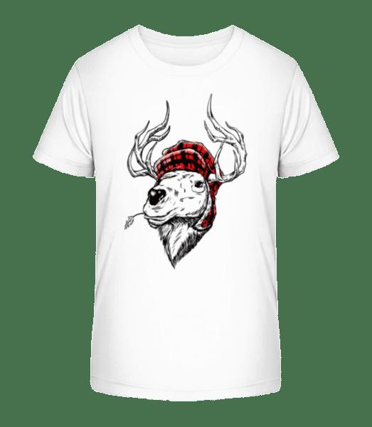 Christmas Reindeer - Detské Premium Bio tričko - Bílá - Napřed