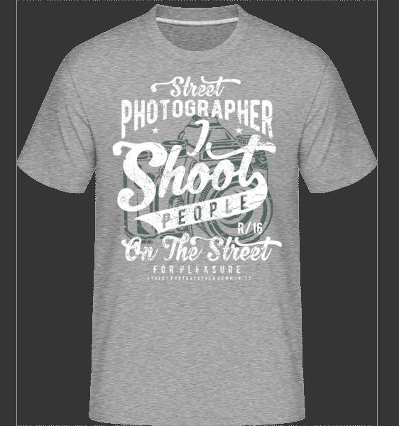 Street Photographer -  Shirtinator Men's T-Shirt - Heather grey - Vorn