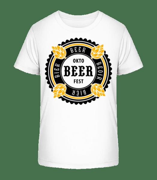 Oktobeer Fest - Kid's Premium Bio T-Shirt - White - Vorn