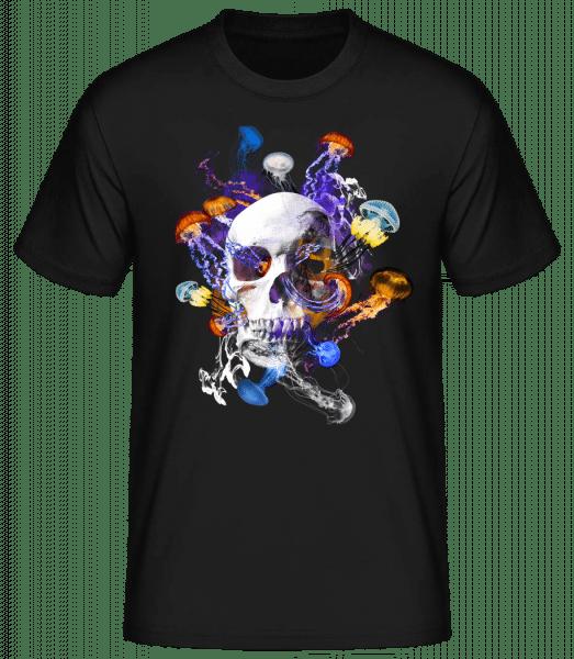 Crâne Et Méduses - T-shirt standard homme - Noir - Vorn
