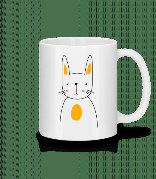 Putziger Hase - Tasse - Weiß - Vorn