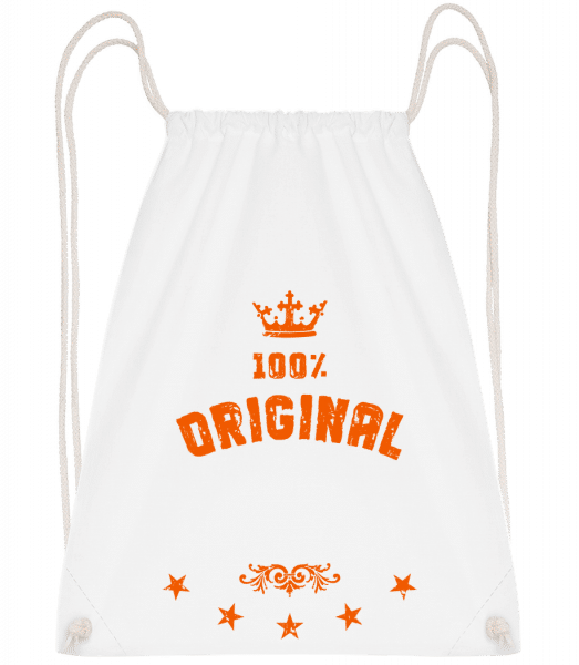 100% Original - Drawstring Backpack - White - Vorn