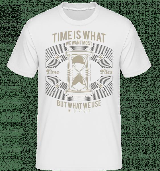 Time -  Shirtinator tričko pro pány - Bílá - Napřed