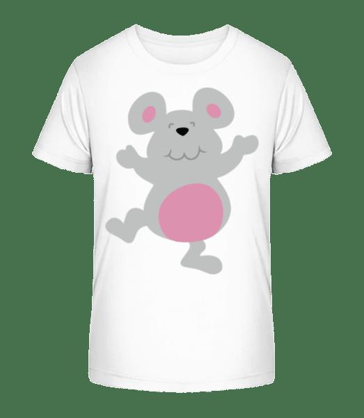 Kids Comic - Mouse - Kid's Premium Bio T-Shirt - White - Vorn