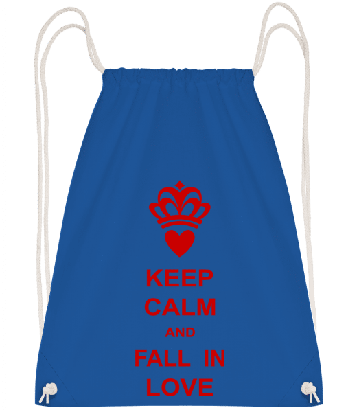 Keep Calm And Fall In Love - Gym bag - Royal blue - Front