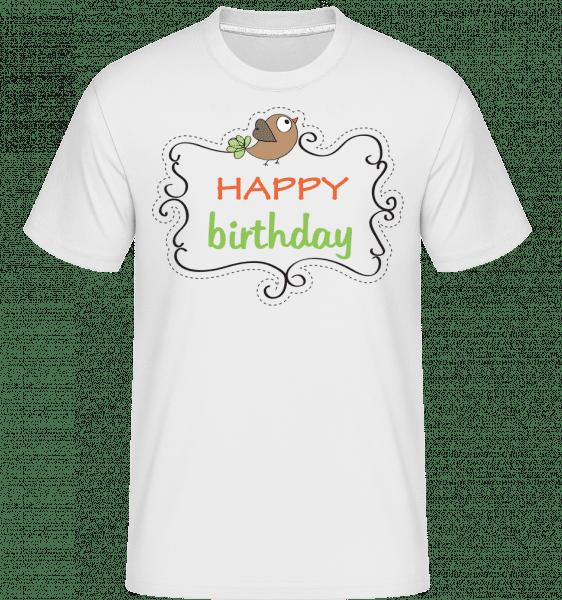 Happy Birthday Bird -  Shirtinator Men's T-Shirt - White - Front
