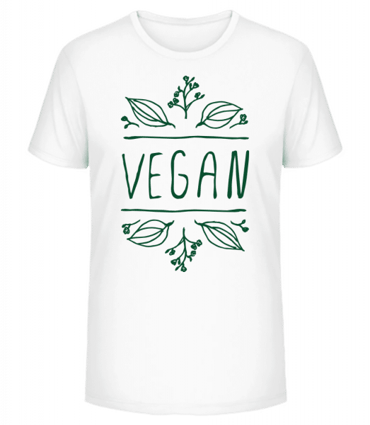 Vegan Sign - Men's Premium Organic T-Shirt Stanley Stella - White - Vorn