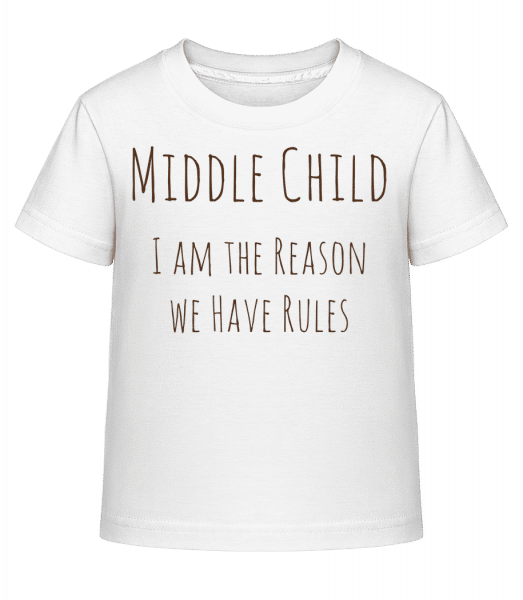 Middle Child - Kid's Shirtinator T-Shirt - White - Vorn
