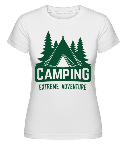 Camping Extreme Adventure -  Shirtinator Women's T-Shirt - White - Vorn
