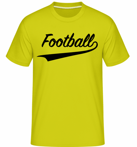 Football Stroke -  Shirtinator Men's T-Shirt - Apple green - Vorn