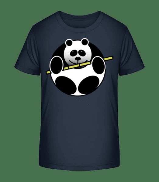 Panda Comic - Kid's Premium Bio T-Shirt - Navy - Front