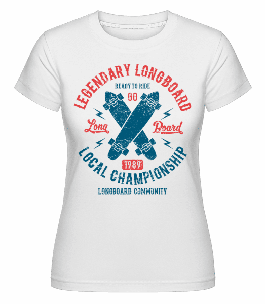 Legendary Longboard -  Shirtinator Women's T-Shirt - White - Vorn