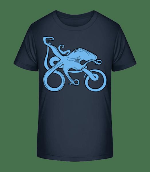 Motorcycle Octopus - Kid's Premium Bio T-Shirt - Navy - Vorn