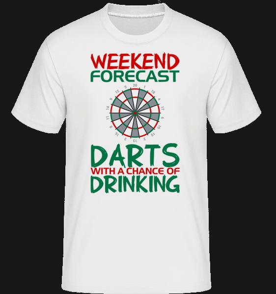 Weekend Darts And Drinking -  Shirtinator Men's T-Shirt - White - Vorn