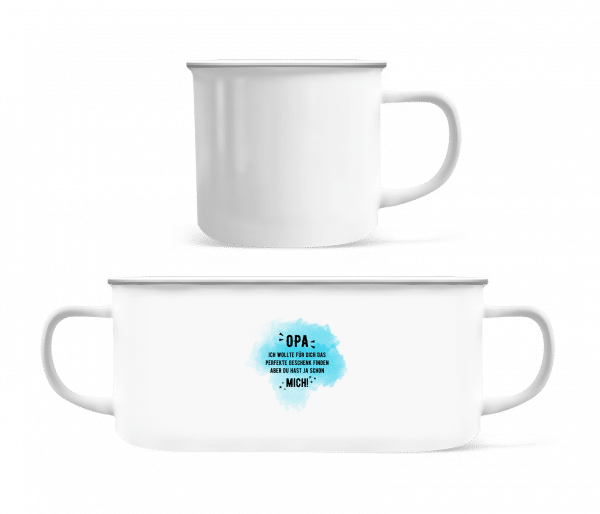 Opa Have Already Yes Me - Enamel-cup - White - Vorn
