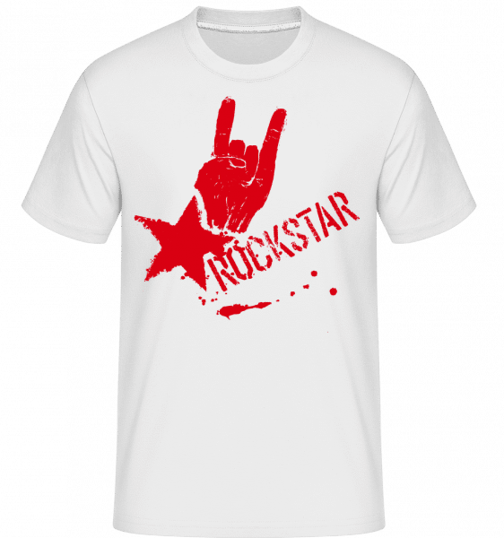 Rockstar Symbol -  Shirtinator Men's T-Shirt - White - Vorn