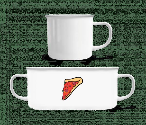 Pizza Part - Enamel-cup - White - Vorn