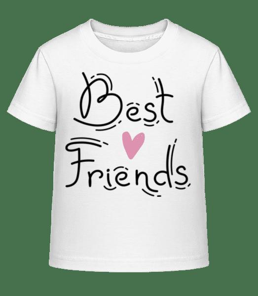 Best Friends - Kinder Shirtinator T-Shirt - Weiß - Vorn