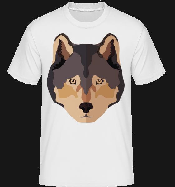 Wolf Comic Shadow -  Shirtinator Men's T-Shirt - White - Vorn