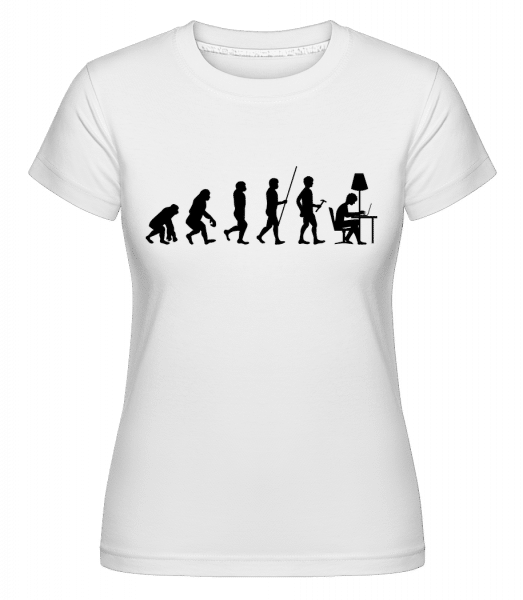 Evolution Of Office Workers -  Shirtinator Women's T-Shirt - White - Vorn