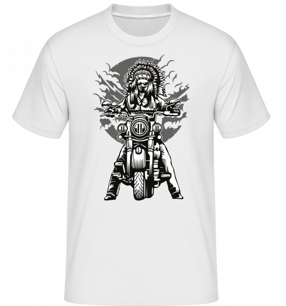 Indian Chief Motorcycle -  Shirtinator Men's T-Shirt - White - Front