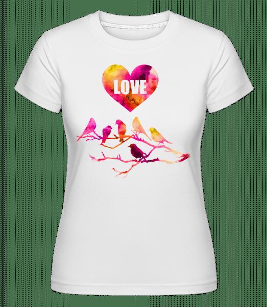 Birds Love -  Shirtinator Women's T-Shirt - White - Vorn