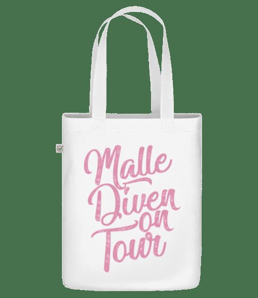 Malle Diven On Tour - Bio Tasche - Weiß - Vorn