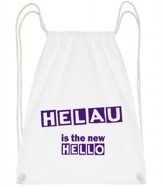 Helau Is The New Hello - Drawstring Backpack - White - Vorn