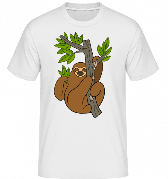 Sloth On The Tree -  Shirtinator Men's T-Shirt - White - Vorn
