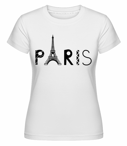 Paris France -  T-shirt Shirtinator femme - Blanc - Vorn