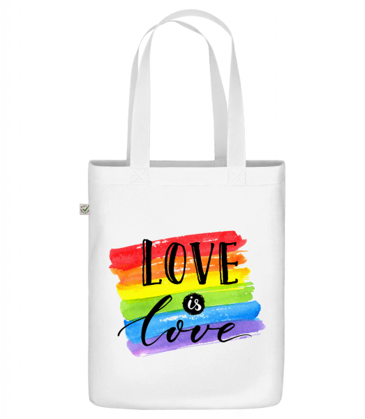 "Love Is Love - Organic ""Earth Positive"" tote bag - White - Vorn"