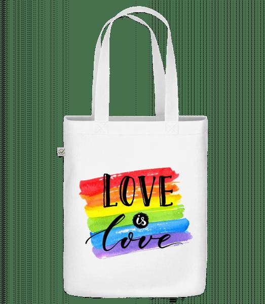 Love Is Love - Bio Tasche - Weiß - Vorn
