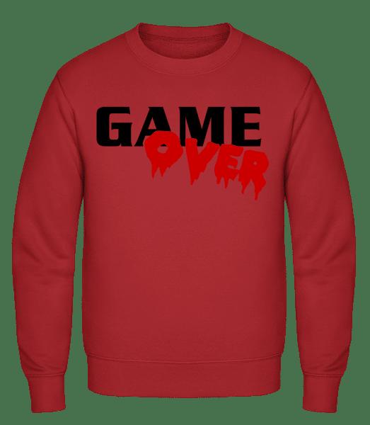 Game Over - Männer Pullover - Rot - Vorn
