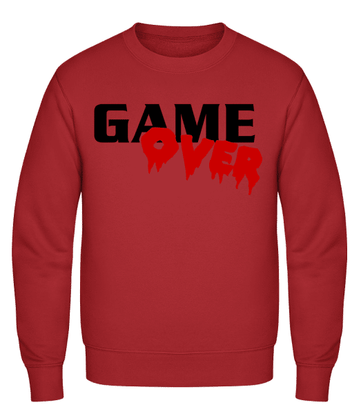 Game Over - Classic Set-In Sweatshirt - Red - Vorn