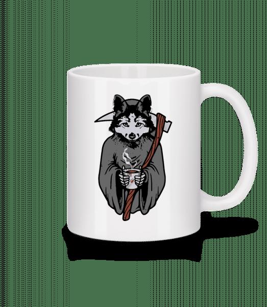 Wolf With Scythe Grey - Mug - White - Vorn