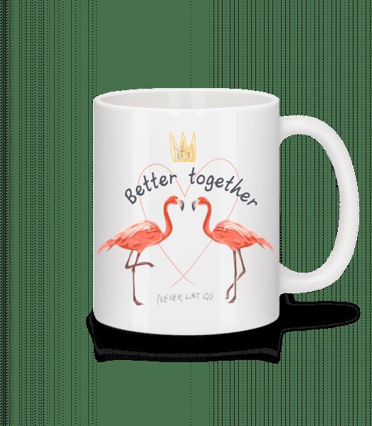 Better Together Flamingos - Tasse - Weiß - Vorn