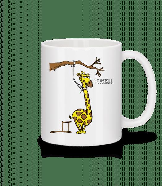 Suicidal Giraffe - Mug - White - Front