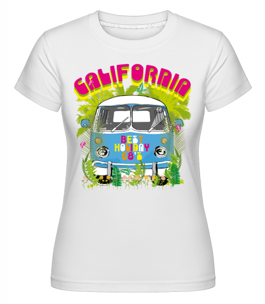 California Bus -  Shirtinator Women's T-Shirt - White - Vorn
