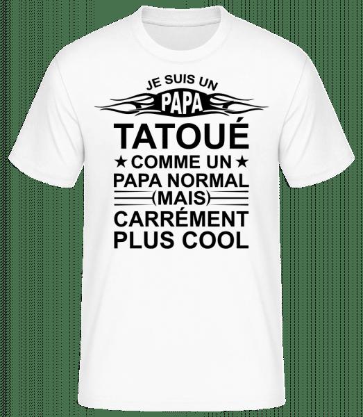 Je Suis Un Papa Tatoué - T-shirt standard Homme - Blanc - Vorn