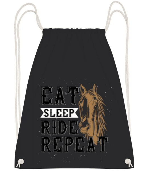 Eat Sleep Ride Repeat - Gym bag - Black - Front