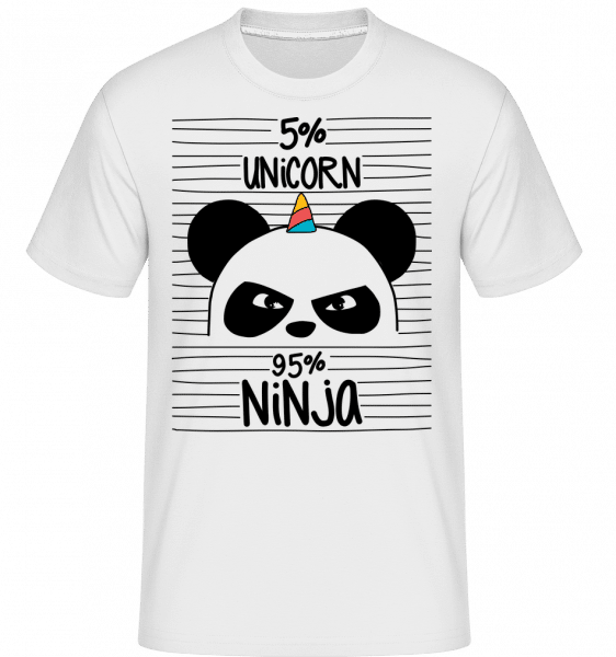 5% Unicorn 95% Ninja -  Shirtinator Men's T-Shirt - White - Vorn