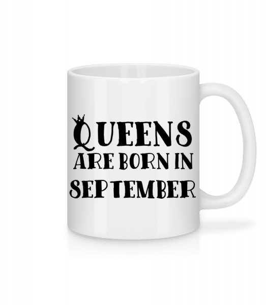 Queens Are Born In September - Mug - White - Vorn