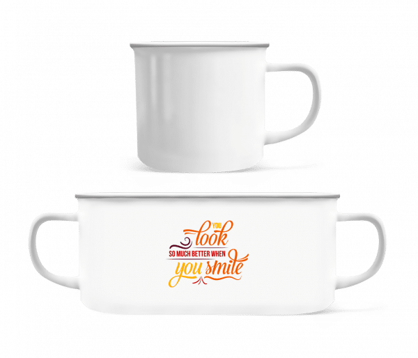 You Look So Much Better When You Smile - Enamel-cup - White - Vorn