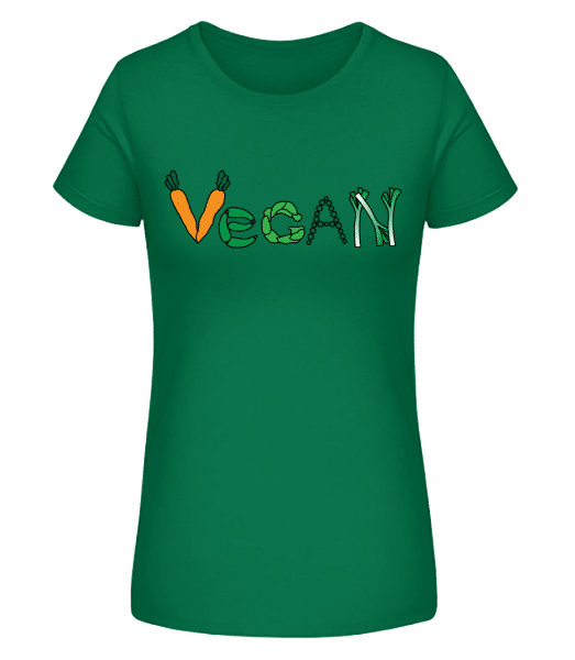 Vegan Vegetables - Women's Premium Organic T-Shirt Stanley Stella - Emerald - Vorn